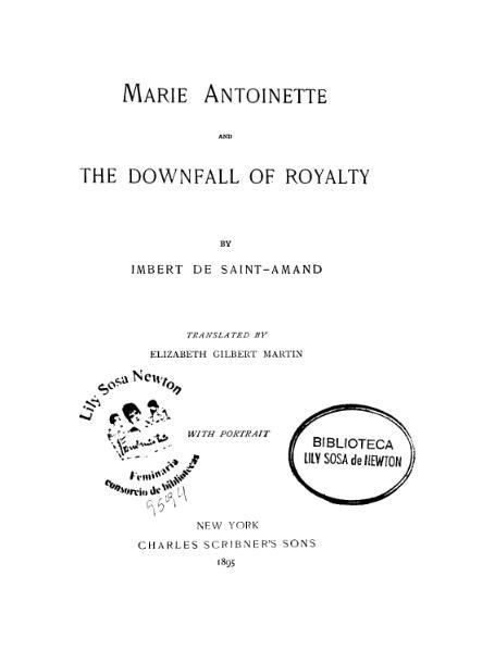 File:Imbert de Saint-Amand Marie Antoinette.djvu