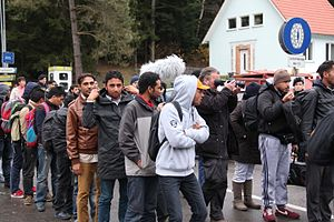 European migrant crisis - Migrants in Austria in November 2015