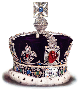 Black Prince's Ruby - The gemstone at the front of the Imperial State Crown