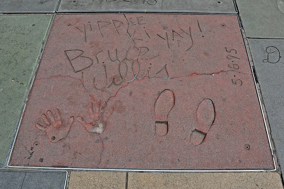 Impronte di Bruce Willis al TCL Chinese Theatre - Los Angeles - USA - agosto 2011