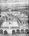in vogelvlucht naar gravure w.harrit, the kings garden and palace het loo - apeldoorn - 20023270 - rce