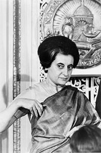 Indira Gandhi en 1966.