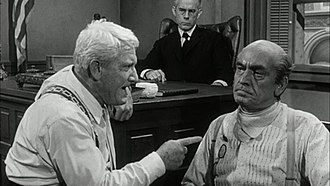 Inherit the Wind (1960 film) - Harry Morgan as the judge, Spencer Tracy as Drummond and Fredric March as Brady