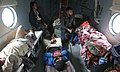 Injured people being evacuated in an IAF Mi-17 helicopter in the quake hit Nepal.jpg