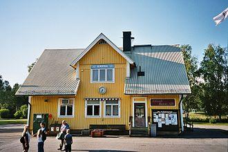 Dorotea Municipality - Dorotea railway station.