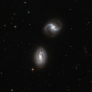Tidal force - Image: Inseparable galactic twins