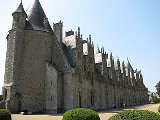 Josselin Castle - The garden front