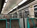 Intérieur Rame MF67 Métro Station Porte Lilas Ligne 3bis Paris 2.jpg