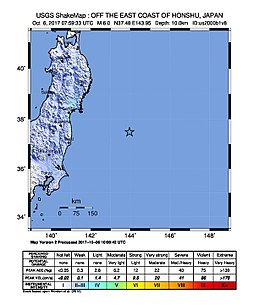 Intensity - M 6.0 - 255km ESE of Ishinomaki, Japan.jpg