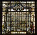 Interieur- gebrandschilderd glas in het trappenhuis, voorstellende de terugkeer van de vloot van Van Neck op de rede van Amsterdam - Amsterdam - 20530472 - RCE.jpg