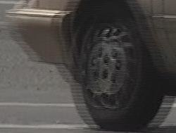 Interlaced video frame (car wheel)