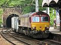 Ipswich Stoke Hill Tunnel - DBS 66009 with container train.jpg