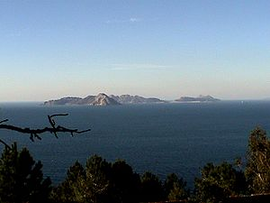 Atlantic Islands of Galicia National Park - Islas Cíes view from Monte Ferro