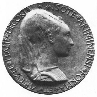 Isotta degli Atti - Medal of Isotta degli Atti by Matteo de' Pasti, 1466.
