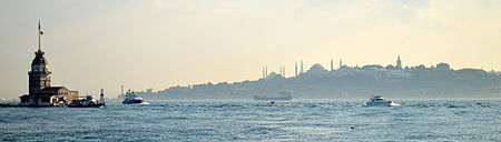 Maiden's Tower and the Seraglio Point Istanbul bogazici siluet.jpg