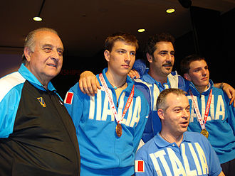 Stefano Cerioni - With the junior Italy team in 2007: from L to R, Salvatore Di Naro, Valerio Aspromonte, Cerioni, and Martino Minuto