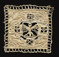 Fragment of Needlepoint (Cutwork) Lace (1933.358)