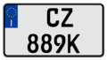 Italy motorcycle registration plate 2008.png