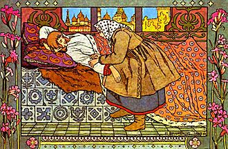 The Feather of Finist the Falcon - Illustration by Ivan Bilibin