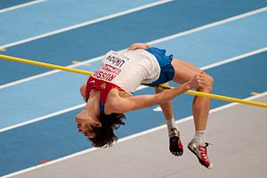 English: Ivan Ukhov at the 2011 European Athle...