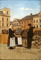 Józef Raszka Peasants on the Main Square in Cieszyn.jpeg