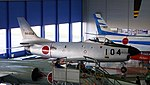 JASDF F-86D(84-8104) right front top view at Hamamatsu Air Base Publication Center November 24, 2014.jpg