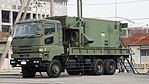 JASDF MIM-104 Patriot PAC-2 J MSQ-132 Engagement Control Station(Mitsubishi Fuso Super Great, 49-0377) left front view at Kasuga Air Base November 25, 2017 02.jpg