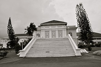 Iskandar of Johor - Steps to the main hall of Istana Besar, Johor Bahru