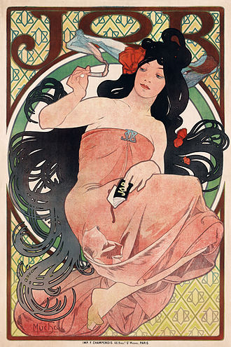 JOB (rolling papers) - Poster by Alphonse Mucha (1898)