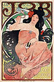 JOB, cigarette paper advertisement by Alfons Mucha, 1898.jpg