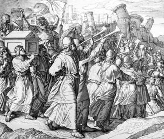 Battle of Jericho - Depiction by Julius Schnoor von Carolsfeld (1794-1872)