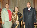 Jacob Zuma with his wife calling on the President, Smt. Pratibha Devisingh Patil, on the occasion of the Summit of BRICS countries, at Rashtrapati Bhavan, in New Delhi on March 28, 2012.jpg