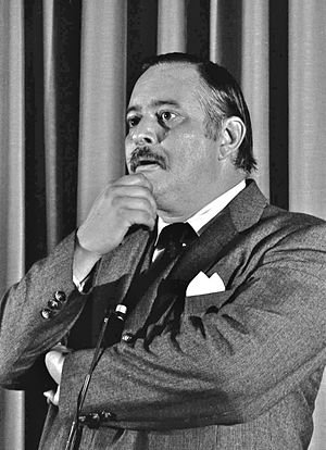 Jacques Parizeau - Parizeau at a 1981 conference at Laval University