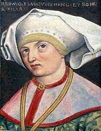 Portrait of Jadwiga of Anjou, king of Poland.