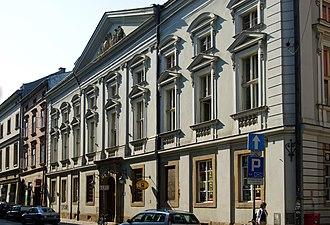 Świętej Anny Street, Kraków - Image: Jagiellonian University Collegium Kollataja (Collegium Phisicum), 6 sw. Anny street, Old Town, Krakow, Poland