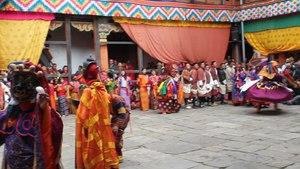 File:Jakar tshechu, Guru Tshengye, dance by the eight manifestations of Guru Rinpoche.webm
