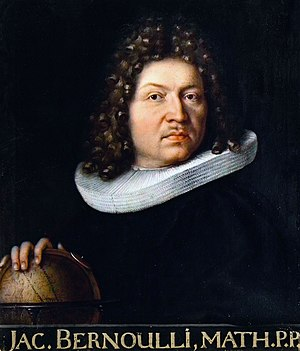 Ars Conjectandi - Portrait of Jakob Bernoulli in 1687