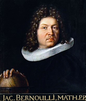 Ars Conjectandi - Portrait of Jakob Bernoulli in 1687
