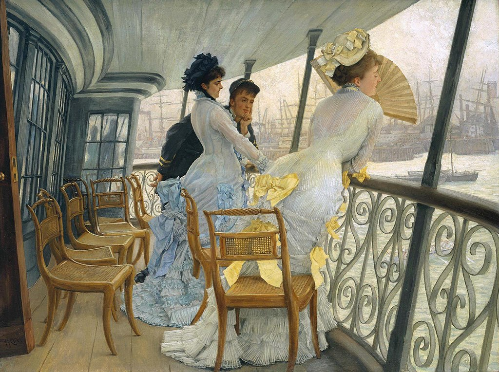 """The Gallery of HMS Calcutta"" by James Tissot"