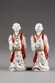 Japanska figurer från 1700-talet föreställande borgare - Hallwylska museet - 96046.tif