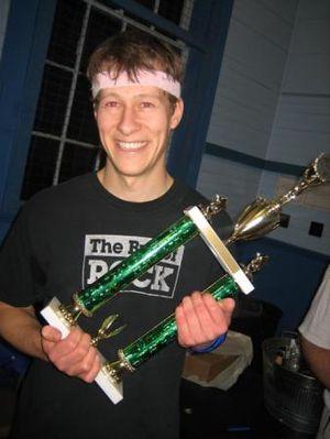 Four square - Jasper Turner, the 2007 Men's World Champion.