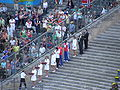 Javelin throw men - medal cermony Berlin 2009.JPG