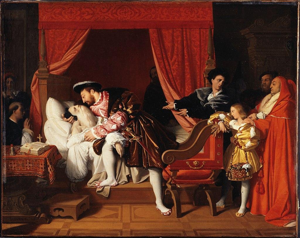 Жан-Огюст-Доминик Энгр - François Ier reçoit les derniers soupirs de Léonard de Vinci - PDUT1165 - Musée des Beaux-Arts de la ville de Paris.jpg
