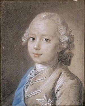 Louis, Duke of Burgundy (1751–1761) - Portrait by Jean-Martial Frédou, 1760.