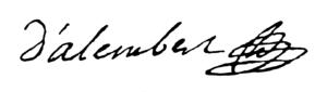 Unterschrift d'Alemberts