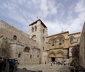 The Church of the Holy Sepulchre (Jerusalem) Jerusalem Holy Sepulchre BW 19.JPG