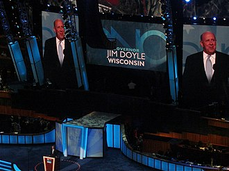 Jim Doyle - Doyle speaks during the second day of the 2008 Democratic National Convention in Denver, Colorado.