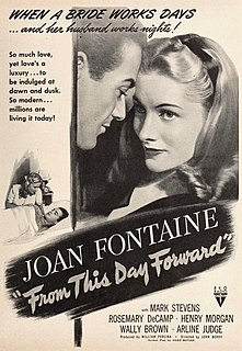 <i>From This Day Forward</i> 1946 film by John Berry