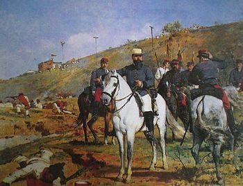 Joaqu%C3%ADn Crespo en la Batalla de Los Colorados - Arturo Michelena