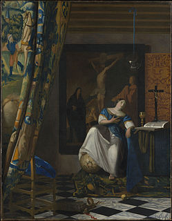 <i>The Allegory of Faith</i> painting by Johannes Vermeer
